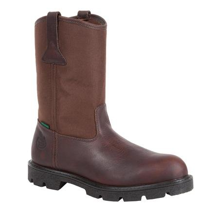 Georgia G111 Men's Brown 11″ Homeland Steel Toe WP Wellington Work Boots 10.5 M
