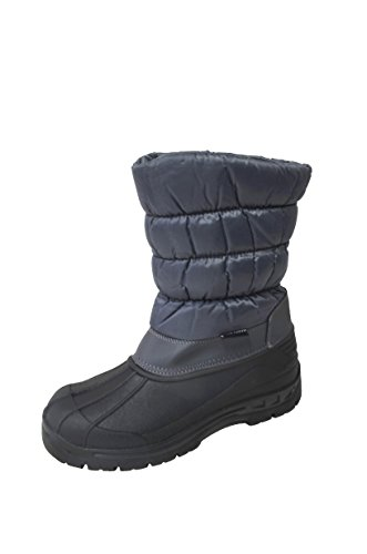 Men's Water Resistant Zipper Comfort Cold Winter Snow Boots (Y06) Grey 13 M US