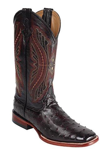 Ferrini Western Boots Mens Caiman Body Croc 11 EE Black 10411-04