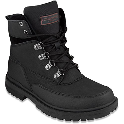 London Fog Mens Camden Cold Weather Boot Black 9 M US