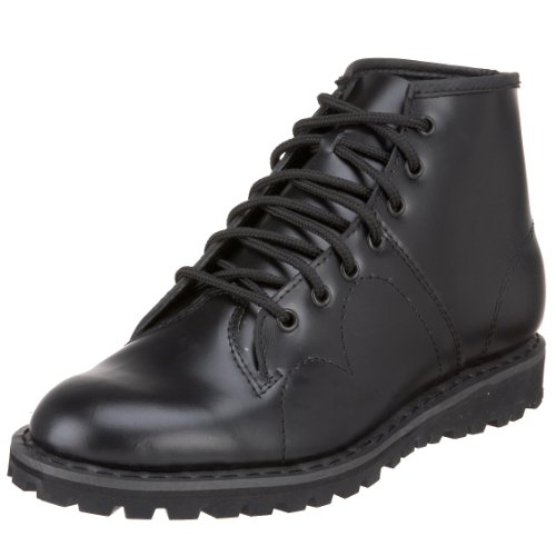 Pleaser Men's 102 Monkey Lace-Up Boot,Black Leather,8 M US