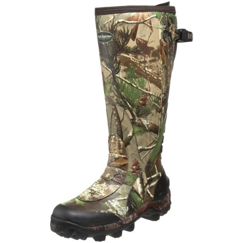 Irish Setter Men's RutMaster WP 17″ Rubber Boot,Realtree APG Camouflage,13 E US