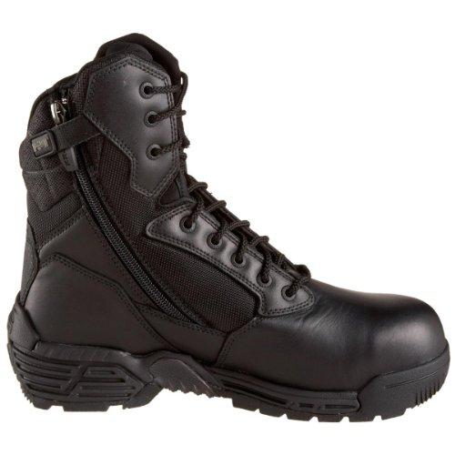 Men's Magnum Stealth Force 8.0 Side – zip Waterproof Boots, BLACK, 9M