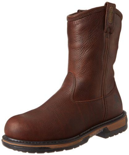 Rocky Men's Iron Clad Pull-On Steel Work Boot,Brown,8 W US
