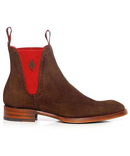 Jeffery-West Suede Bonham Achilles Chelsea Boots Brown US8 / UK7