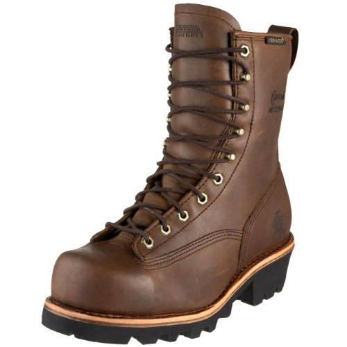 Chippewa Men's 73103 8″ Lace-To-Toe Logger Waterproof Boot,Bay Apache,10.5 W US
