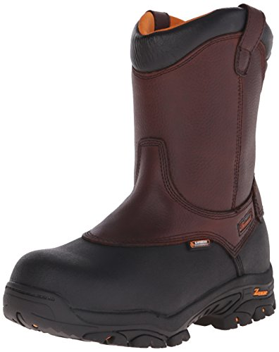 Thorogood Men's Wellington 8 Inch Safety Toe Work Boot, Brown, 10 W US