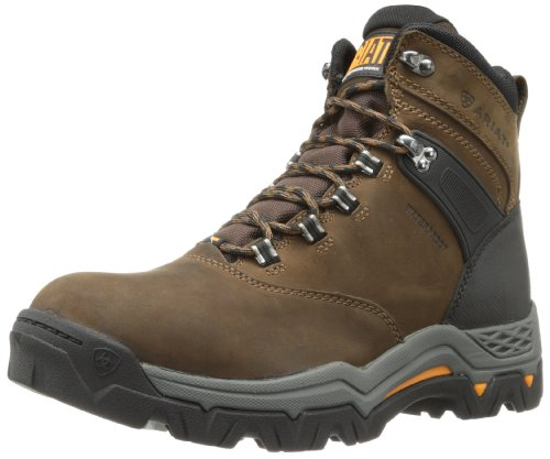 Ariat Men's Workhog Trek 6″ H2O Work Boot, Oiled Distressed, 11 2E US