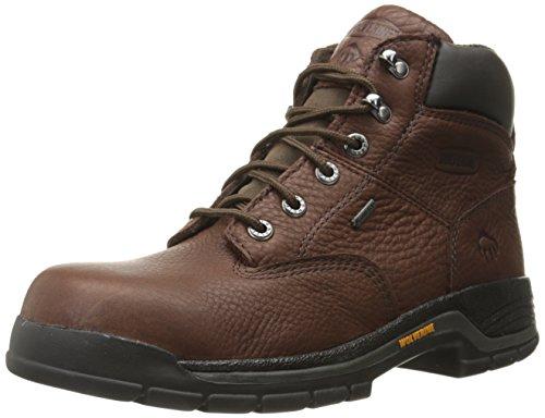 Wolverine Men's Harrison GTX 6 Inch Soft Toe Work Boot, Brown, 10 M US