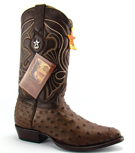 Los Altos Mens Brown Ostrich Cowboy Boots Genuine Exotic Leather Western Boot 11.5 D
