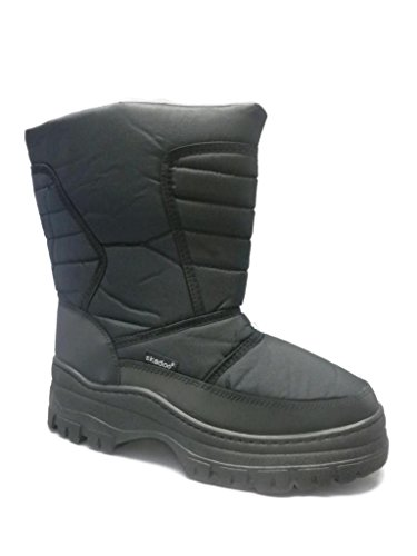 Skadoo Mens Black Snow Winter Cold Weather Boots 11 M US