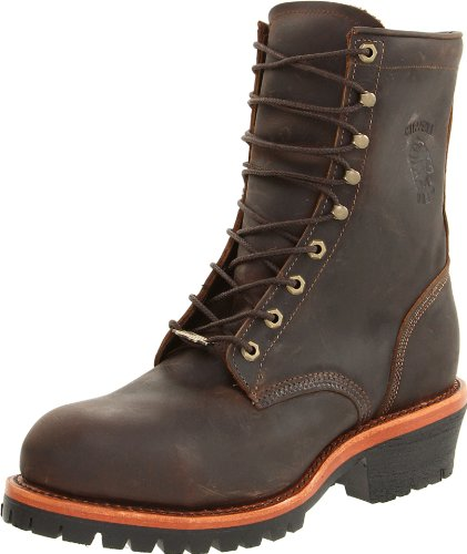 Chippewa Men's Apache Steel Toe Logger Boot,Chocolate,9 D US