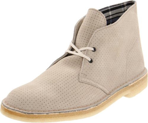 Clarks Men's Desert Boot,Grey Perforated,12 M US