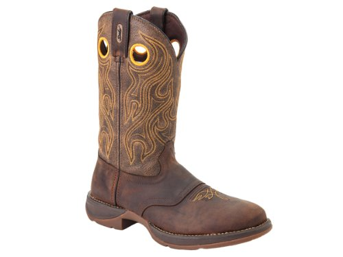 Durango Western Boot Mens 12″ Rebel Saddle Round Toe 8 2E Brown DB5468