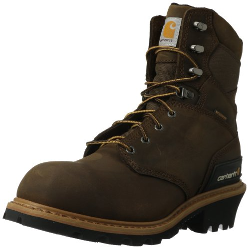 Carhartt Men's CML8160 8 Inch Soft Toe Boot,Crazy Horse Brown Oil Tanned Leather,9 M US