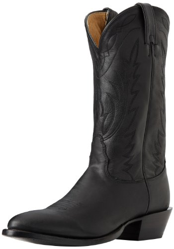 Nocona Boots Men's Deertan Boot,Black Deertan,12 EE US