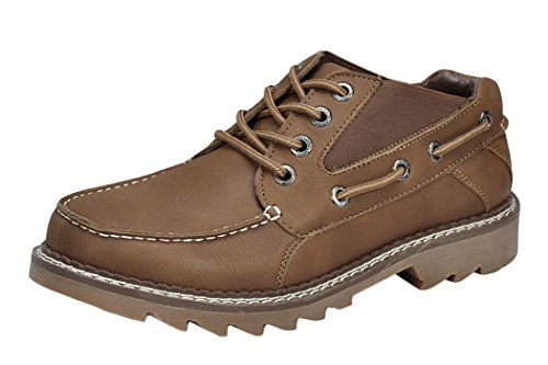 Serene Mens Classic Slip Resistant Lace-up Work Chelsea Boots (9 D(M)US, Tan)