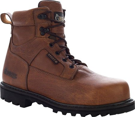 Rocky Men's Exertion 6″ Waterproof Work Boot Safety Toe Brown US