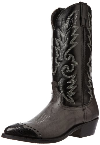 Laredo Men's Flagstaff Western Boot,Grey/Black,8.5 D US