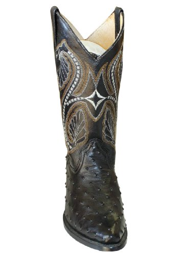 Ostrich Design Genuine Leather Handcrafted Cowboy Men Western Boots