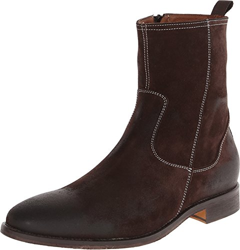 Massimo Matteo Men's Side Zip High Boot Chocolate Brown Boot 12 D (M)
