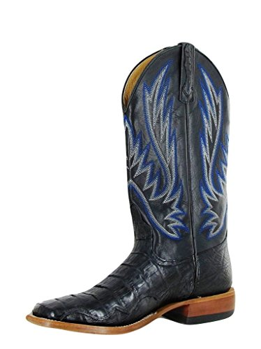 Horse Power Western Boots Mens Caiman Exotic Tough 8 D Black HP1770