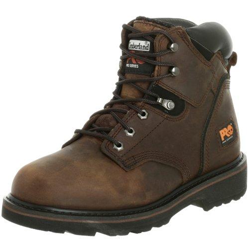Timberland PRO Men's Pitboss 6″ Soft-Toe Boot,Brown/Brown,13 M