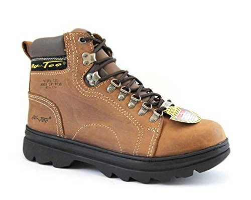 AdTec Womens 6in Steel Toe Fashion Hiker Boots Crazy Horse Size 9 D(M) US