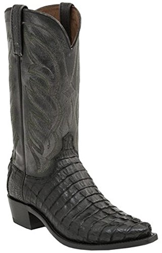 Lucchese Since 1883 Men's M2687,Black Hornback Caiman Tail,US 11 D