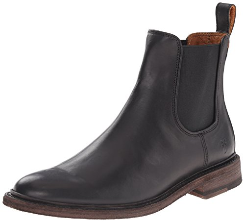 FRYE Men's James Chelsea Boot, Black Smooth Vintage Leather, 10 M US