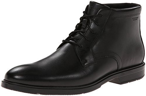 Rockport Men's City Smart Waterproof Chukka Boot, Black Leather, 10.5 M US