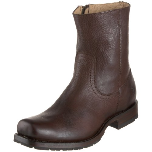 FRYE Men's Heath Inside Zip Boot Dark Brown 11 M US