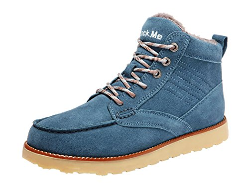 Rock Me Men's Baken NP Thick Plush Double Stitches Low Top Snow Boot(11 D(M) US, Blue)