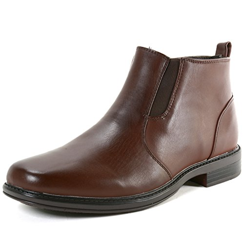 Alpine Swiss Eli Mens Suede Lined Ankle High Zipper Chelsea Boots Brown 8 M US