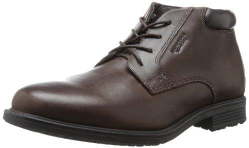 Rockport Men's Essential Details Water Proof Chukka Boot,Dark Brown,6.5 W US