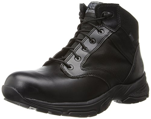 Timberland PRO Men's 5 Inch Valor Soft Toe Waterproof Duty Boot,Black Smooth With Textile,13 M US