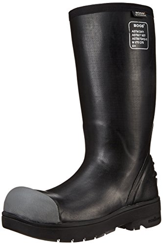 Bogs Men's Food Pro Steel Toe Tall Waterproof Work Boot,Black,13 M US