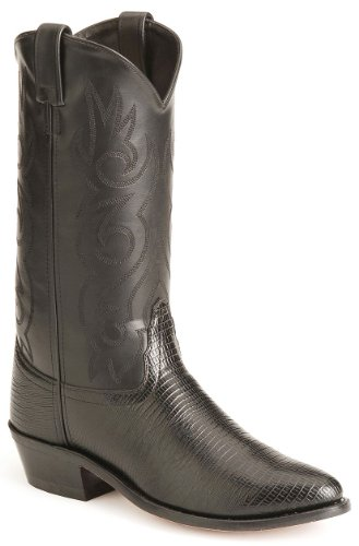 Old West Men's Lizard Printed Cowboy Boot Black US
