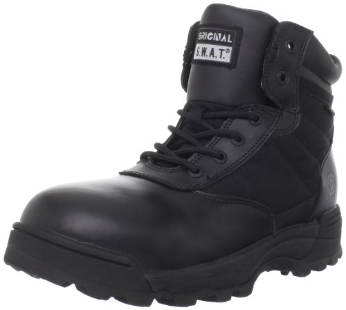 Original S.W.A.T. Men's Classic 6 Inch Waterproof Side-zip Safety Tactical Boot, Black, 14 2E US