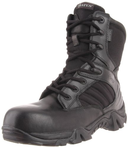 Bates Men's 8 Inch GTX Ultra Lites Comp Uniform Work Boot, Black, 11.5 M US