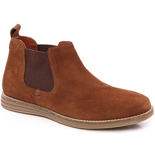 Unze Flor' Mens Casual Suede Leather Chelsea Boots – M18605