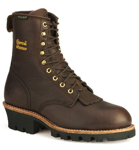 Chippewa Men's 73060 8″ Waterproof Insulated Steel Toe Logger,Briar Oiled,12 M US