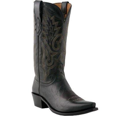 Lucchese Since 1883 Men's M1007.R4 Black Madras Goat Cowboy Boots,10 D