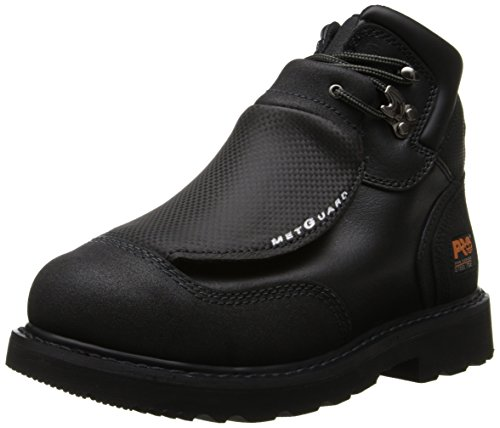 Timberland PRO Men's 40000 Met Guard 6′ Steel Toe Boot,Black/Black,12 M