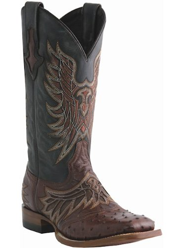 Lucchese Since 1883 Men's M1802.TWF Sienna Saddle VampFull Quill Ostrich Cowboy Boots,10.5 D