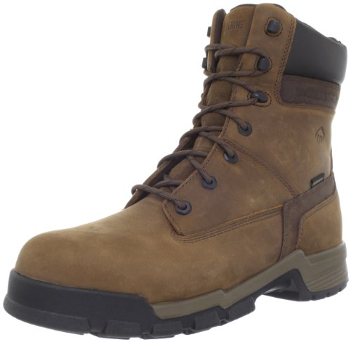 Wolverine Men's Gear 8-Inch Composite Toe EH Waterproof Work Boot,Brown,11.5 XW US