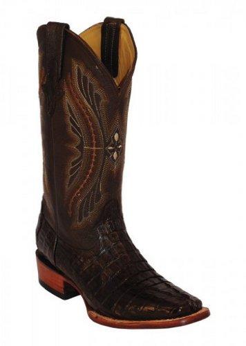 Ferrini Mens Caiman Croc Tail Sq Boots 9.5EE Cho