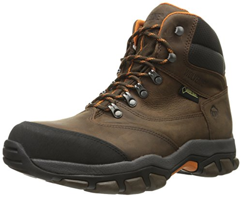 Wolverine Men's Harden Hiker GTX Steel-Toe EH Work Boot, Brown/Orange, 14 M US