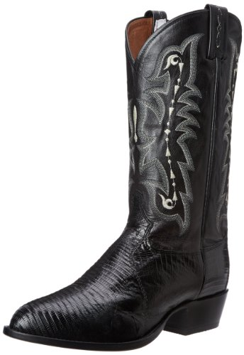 Tony Lama Boots Men's Lizard CZ810 Western Boot,Black,9 D US