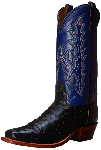 Nocona Boots Men's BK Full Quill Boot,Black,9 D US